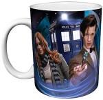 Tardis, 11th Doctor and Amy pond on a coffee mug