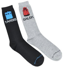 Tardis And Dalek Socks