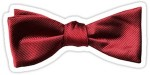 Doctor Who red bow tie sticker