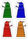 Doctor Who Dalek stickers