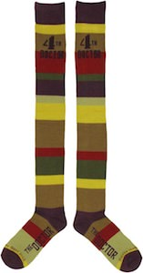 dr who 4th Doctor Scarf Socks