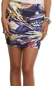 Doctor Who Van Gogh Tardis Skirt