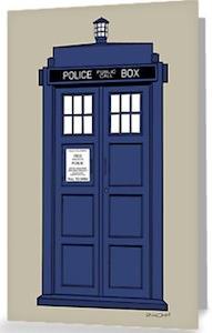 Doctor Who Tardis post Card