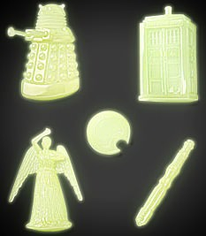 Tardis and Dalek glow in the dark stickers