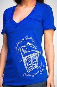 Tardis Something Blue T-Shirt