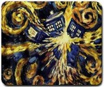 Doctor Who Van Gogh exploding Tardis mousepad