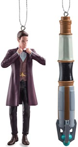 11th Doctor And Sonic Screwdriver Christmas Ornament