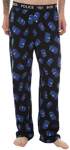 Dr. Who Tardis Pajama Pants