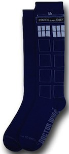 Doctor Who Tardis socks