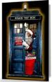 Tardis And Santa Christmas Card