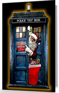 Tardis And Santa Christmas Card