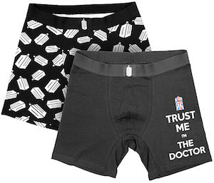 Doctor Who Logo And Trust The Doctor Boxer Briefs
