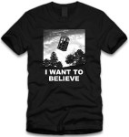 Dr. Who Tardis I Want To Believe T-Shirt
