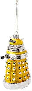 Yellow Dalek Christmas Tree Ornament