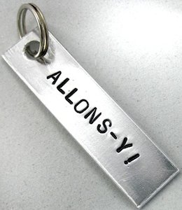 Doctor Who Allons-y Key Chain