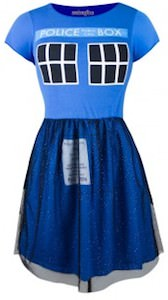 Dr. Who Tardis Fit & Flare Tulle Dress