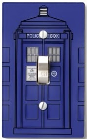 Doctor who tardis light switch cover for Tardis light switch cover