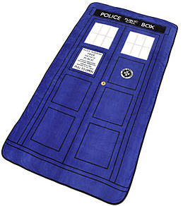 Dr. Who Tardis Throw Blanket
