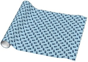 Dr. Who Tardis Zig Zag Wrapping Paper