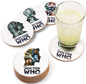 Doctors 1 Till 11 And The Tardis Coaster Set