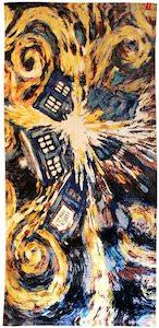 Dr. Who Exploding Tardis Beach Towel