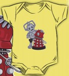 Dr. Who Baby Cybermen and Dalek Bodysuit