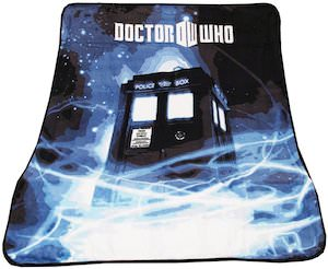 Dr. Who Appearing Tardis Fleece Blanket