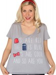 Dr Who Red And Blue Are Cool T-Shirt