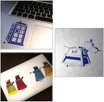 Dr. Who Vinyl Sticker Set 1 (6 stickers)