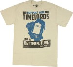 Dr. Who Support Out Time lords T-Shirt