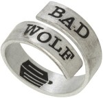 Dr. Who Bad Wolf Wrap around ring