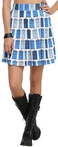 Dr. Who Tardis Lineup Skirt