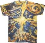Dr. Who Van Gogh Exploding Tardis T-Shirt