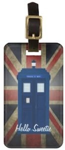 Doctor Who Tardis Union Jack Luggage Tag
