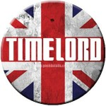 dr who Union Jack Time Lord Button