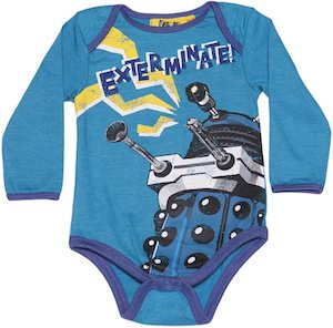 Dr. Who Dalek Exterminate Baby Bodysuit