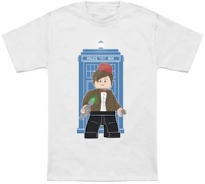 Dr. Who 11th Doctor Lego Figure T-Shirt