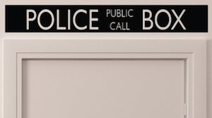Tardis Police Box Top Sign Sticker