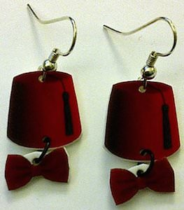 Doctor Who Fez And Bow Tie Earrings