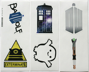 fun Doctor Who stickers