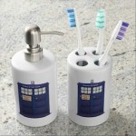 dr. who Tardis Soap And Toothbrush Holder