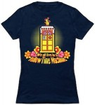 Doctor Who We All Live In A Yellow Time Machine T-Shirt