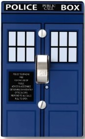 Dr. Who Tardis Door Light Switch Cover