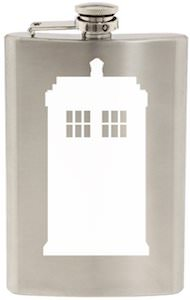 dr. who White Tardis Flask