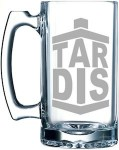 Doctor Who Tardis Logo Beer glass