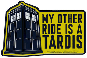 My Order Ride Is A Tardis Car Magnet