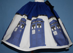 Dr Who Tardis Skirt