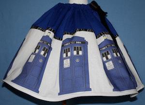 Dr Who Tardis Skirt