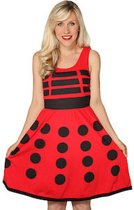 Dr. Who Red Dalek A-Line Dress