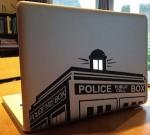 Doctor Who Tardis Top Laptop Decal